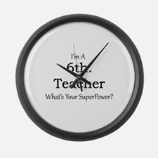 6th. Grade Teacher Large Wall Clock
