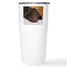 Unique Chocolate labrador Travel Mug