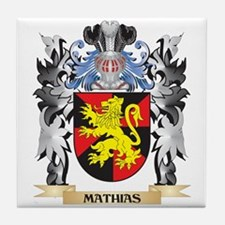 Mathias Coat of Arms - Family Crest Tile Coaster