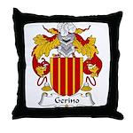 Gerino Family Crest Throw Pillow