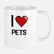 I Love Pets Digital Design Mugs