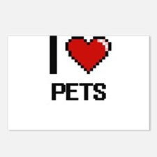 I Love Pets Digital Desig Postcards (Package of 8)