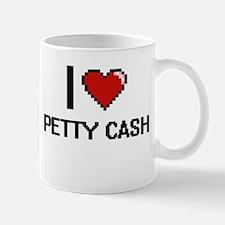 I Love Petty Cash Digital Design Mugs
