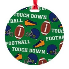 Football Collage Ornament