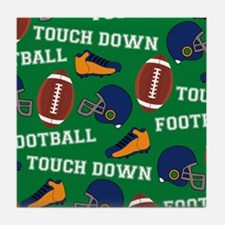 Football Collage Tile Coaster
