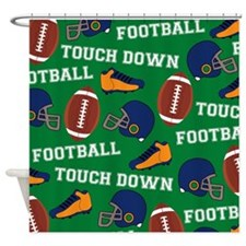 Football Collage Shower Curtain