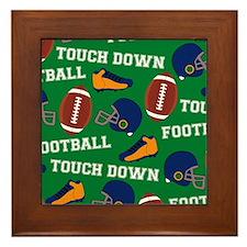 Football Collage Framed Tile
