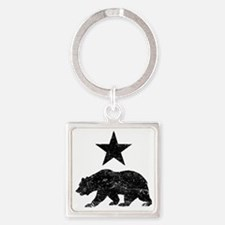 Cute California republic Square Keychain