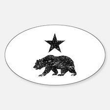 Cute Republic of california Sticker (Oval)