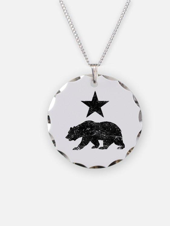 Cute California bear flag Necklace