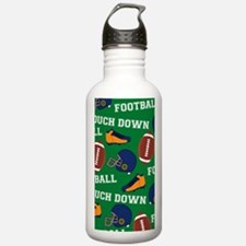 Football Collage Water Bottle