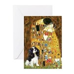 The Kiss & Tri Cavalier Greeting Cards (Pk of 20)