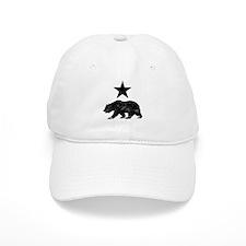 California Republic distressed Bear and Star Baseball Cap
