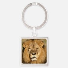 Cecil the Lion Square Keychain