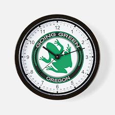 Going Green Oregon (Frog) Wall Clock
