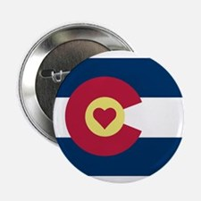 "Colorado Love Flag 2.25"" Button (100 pack)"