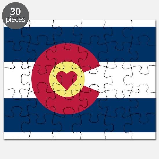 Colorado Love Flag Puzzle