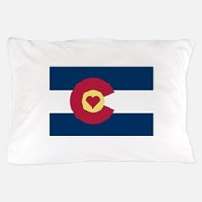 Colorado Love Flag Pillow Case