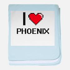 I Love Phoenix Digital Design baby blanket