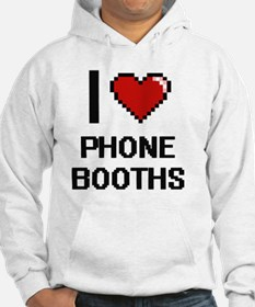 I Love Phone Booths Digital Desi Hoodie