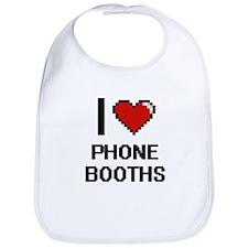 I Love Phone Booths Digital Design Bib