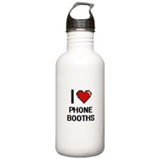 I Love Phone Booths Di Water Bottle
