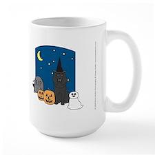 Black Standard Poodle Halloween Mug
