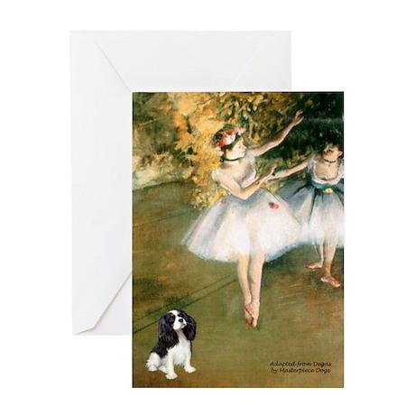 2 Dancers & Tri Cavalier Greeting Card