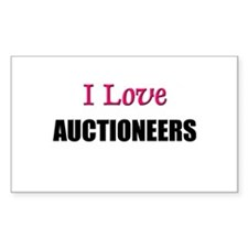 I Love AUCTIONEERS Rectangle Decal
