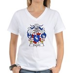 Garzon Family Crest Women's V-Neck T-Shirt