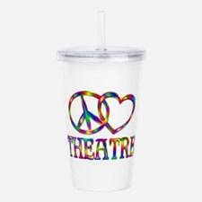 Peace Love Theatre Acrylic Double-wall Tumbler