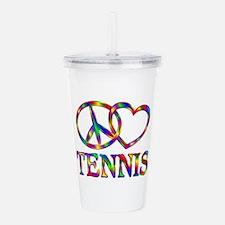 Peace Love Tennis Acrylic Double-wall Tumbler