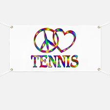 Peace Love Tennis Banner