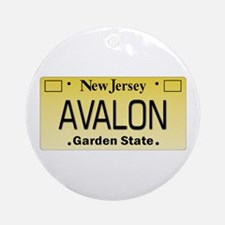 Avalon NJ Tag Giftware Round Ornament