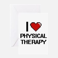 I Love Physical Therapy Digital Des Greeting Cards