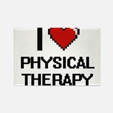 I Love Physical Therapy Digital Design Magnets