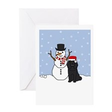 Black Poodle Holidays Greeting Card