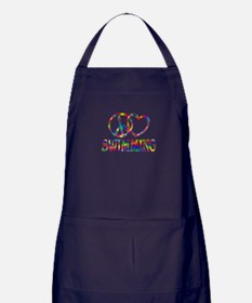 Peace Love Swimming Apron (dark)