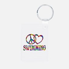 Peace Love Swimming Keychains