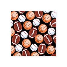 "Funny Collage basketball Square Sticker 3"" x 3"""