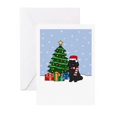 Poodle Howling Holiday Greeting Cards (Pk of 10)