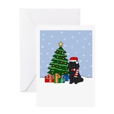 Black Poodle Season's Greeting Card