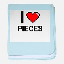 I Love Pieces Digital Design baby blanket