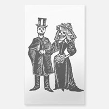 Skeleton Couple Sticker, Clear Or White