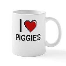 I Love Piggies Digital Design Mugs