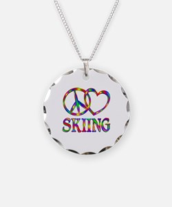 Peace Love Skiing Necklace