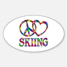 Peace Love Skiing Decal