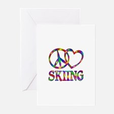 Peace Love Skiing Greeting Cards (Pk of 20)