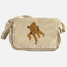 Judo Combatants Throw Front Etching Messenger Bag