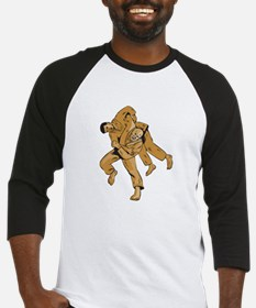 Judo Combatants Throw Front Etching Baseball Jerse